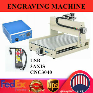 Usb 3axis Cnc3040 Router Engraver Wood Drill milling Machine 400w Handwheel