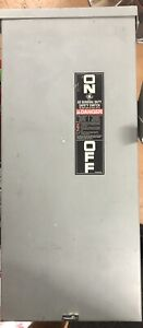 Power Transfer Switch Fused 90a Generator Manual Ge 100 Amp 240 Volt 3 Phase