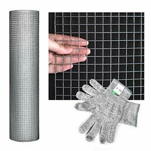 Hardware Cloth 48 X 40 Welded Cage Wire Chicken Fence Mesh 1 2 Inch Square