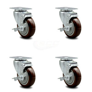 Regency 600csw415wb U boat Utility Cart Caster Replacement Set Service Caster