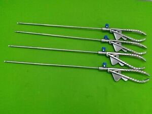 Needle Holder Laparoscopic Curved Jaw Surgical Instruments 5mm X330mm 4pc