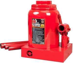Big Red T93007 Torin Hydraulic Stubby Low Profile Welded Bottle Jack 30 Tons