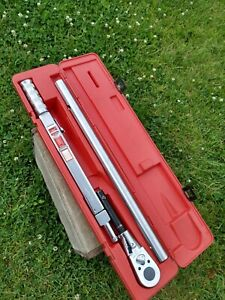Snap On Tqr 600b Torque Wrench 200 600 Ft Lbs 300 800nm L72t With Case