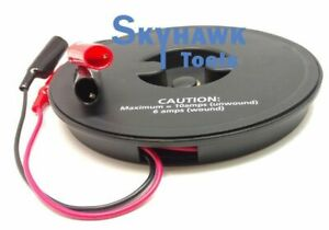2 Wire 18 Gauge 20 Ft Retractable Test Leads Probes In Reel With Alligator Clips