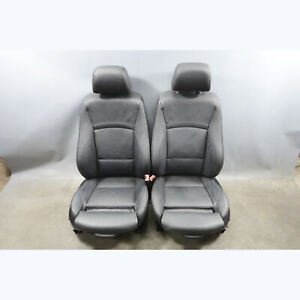 2008 2012 Bmw E90 3 series E91 Factory Front Sports Seats Black Leather Heat Oem