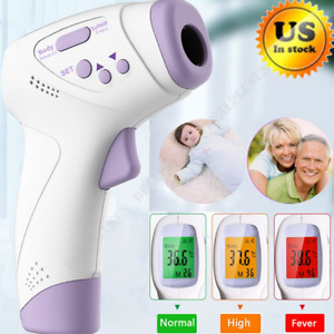 Digital Temperature Gun Lcd Infrared Thermometer Non contact Forehead Baby Adult