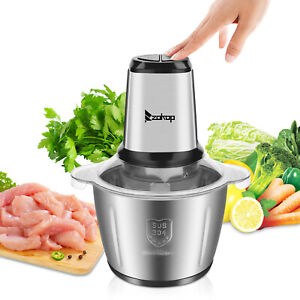 2 8l Electric Meat Grinder Stainless Steel Sausage Maker Cutter Kitchen 2 Speed