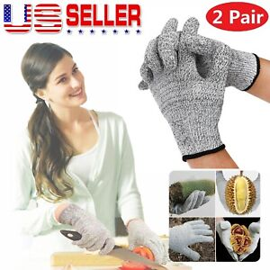 2pair Butcher Glove Cut Proof Stab Resistant Safety Gloves Kitchen L5 Protection