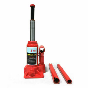 Red 2 Ton Hydraulic Bottle Jack Automotive Car Repair Shop Lift Tool Us Shipping