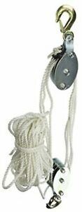 18095 2 ton Rope Pulley Hoist Silver
