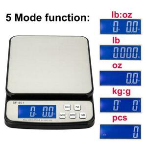 110 Lb X 0 1oz Digital Postal Shipping Scale Weight Postage 3x Battery Adapter