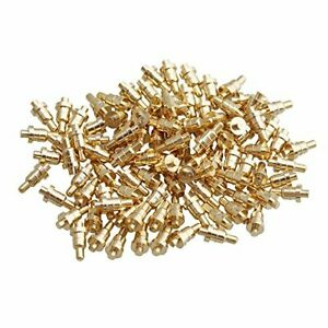 Yibuy 100 Piece Gold Plated Pcb Test Probes Mold Part Pin Pogo Pin 1mm Pin