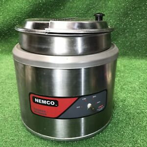 Nemco 6103a Commercial 11 Qt Round Cooker warmer W Inset Pan And Lid Countertop
