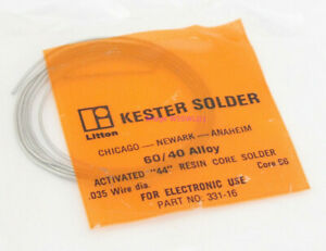 Kester 60 40 035 Diameter Core 66 Activated 44 Solder Package 2 1 2ft