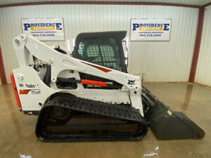 2018 Bobcat T750 Cab Skid Steer Track Loader With A c And Heat