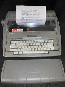 Brother Sx 4000 Portable Electronic Typewriter With Digital Display Works Read