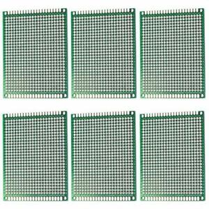 Rlecs 6 pack Double Sided Copper Prototype Pcb Board For Arduino 2 54mm Pitch