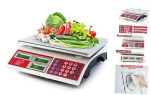 Digital Commercial Price Scale 66lb 30kg For Food Meat Fruit Produce With