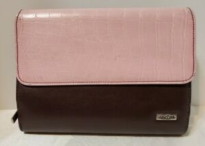 Franklin Covey Compact Brown Pink Day One W Six 1 Ring Binder Planner Organizer