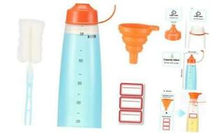 Condiment Squeeze Bottle Wide Mouth Pack 550ml Empty Reusable 19 Oz 550 Ml 1