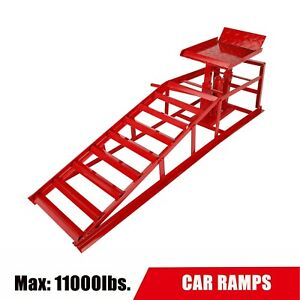 1 Pc 5t Heavy Duty Auto Car Service Ramps Lifts Hydraulic Lift Repair Frame