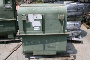 Military Metal Engine Transmission Shipping Storage Container Green 43 x45 x30