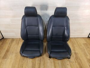 07 13 Oem Bmw E92 Coupe 328 335 Black Sport Leather Left Right Front Seats Pair