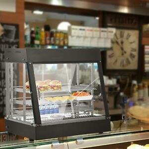 27 Commercial Food Warmer Display Hot Food Countertop Heated Cabinet 3 Tier