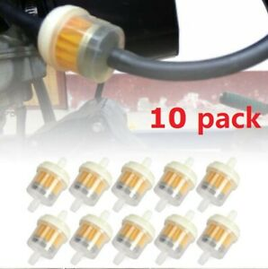 10x For 1 4 6 7mm Hose Motor Inline Gas Oil Fuel Filter Small Engine Universal