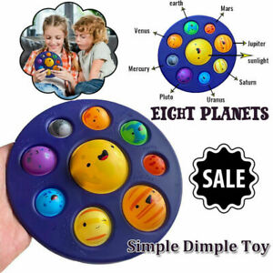 Eight Planets Solar System Simple Dimple Fidget Sensory Baby Toy Stress Relief