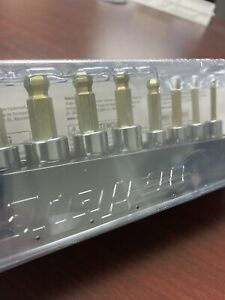 New Snap On 8 Pc 1 4 3 8 Dr Metric Ball Hex Socket Driver Set 208eftabmy