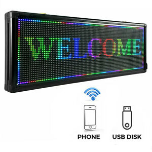 New P10 40 X 15 Inch Full Color Led Sign Programmable Scrolling Message Display