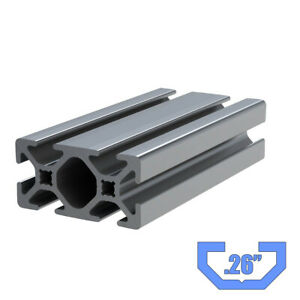 1 X 2 Aluminum T slotted Extrusion Framing Material 20 Long Slot Code 26 1020