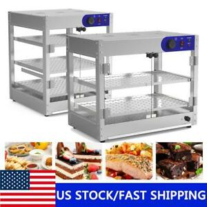 Commercial Food Warmer Court Heat Food Pizza Countertop Display Warmer Cabinet