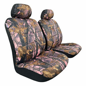 Front Camo Canvas Pink Front Car Seat Covers For Toyota Tacoma Crew Cab