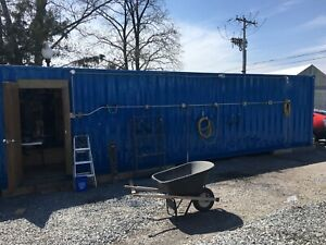 40 Tool Container Construction Trailer Has Electric Air Water Led
