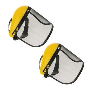 2 Pack Steel Mesh Face Shield With Adjustable Mesh Visor For Weeding Sawing