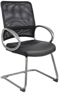 Boss Office Products Black Guest Reception Waiting Room Chair