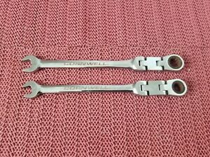 2 Cornwell Metric Flex Head Ratcheting Combination Wrenchs 8mm 9mm Made In Usa