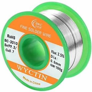 Wyctin Lead Free Solder Wire Sn99 Ag0 3 Cu0 7 With Rosin Core For Electrical