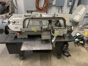 Wellsaw 1016 Capacity Horizontal Band Saw Coolant System 1 Phase W roller Table