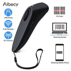 Aibecy Portable 3 in 1 Barcode Scanner Handheld 1d Bar Code Reader Support B2w8