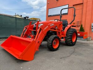 Kubota L3301hst Tract W Loader Land Planer 2 Post Rops 4x4 540 Pto 33 Hp