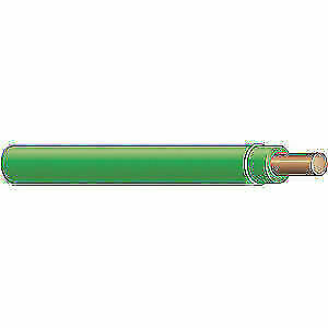 Solid Wire Thhn 12 Awg 500 Ft Green Nylon Jacket