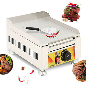 New Commercial Electric Food Griddle Grill Countertop Flat Bbq Grill Cooking 2kw