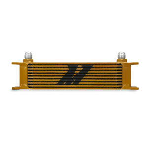 Mishimoto Universal 10 Row Oil Cooler Gold
