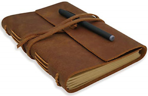 Leather Journal Writing Notebook Genuine Leather Bound Daily Notepad For Men