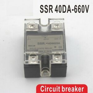 40da Ssr Control Solid State Relay Dc Output High Voltage Single Phase Current