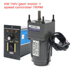 Electric Gear Motor 110v reversible Variable Speed Controller 1 180 7 5rpm Usa