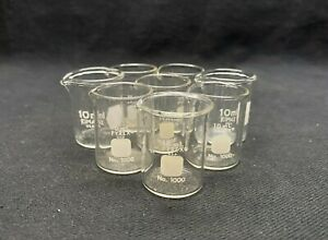 Corning Pyrex 10ml Glass Low Form Griffin Beaker Non graduated 1000 10 6 pack